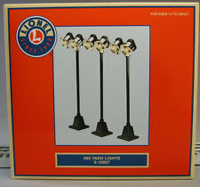 LIONEL# 65 YARD LIGHTS 3 PK lighted train accessory lighting poles 6-12927