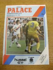 08/09/1984 Crystal Palace v Birmingham City  (crease). Trusted sellers on ebay b