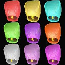 1pc Wishing Lantern Chinese Paper Sky Flying Float Party Wedding Candle Lamp C46