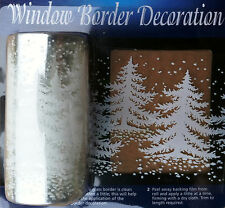 2m Tree Window Border Cling Sticker Xmas Trees Snow Vintage Christmas Decoration