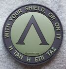 LAMBDA SPARTAN O.D.GREEN OLIVE PATCH WITH YOUR SHIELD PVC RUBBER DEVGRU VELCRO