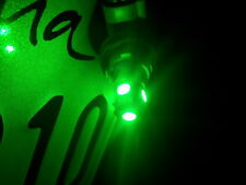 New Two 2 x Green LED T10 2825 168 194 5-SMD Wedge License Plate Light Bulbs