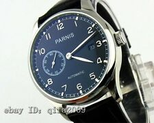 43mm Parnis Black Dial Mechanical Silver stainless steel Automatic Men WatchE118