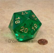NEW 55mm Transparent Emerald Green Giant Jumbo D20 Life Counter Dice MTG RPG