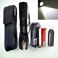 9000LM LED Linterna Zoomable Flashlight Luz 18650 Batería Cargador Funda
