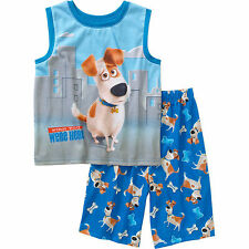 The Secret Life of Pets Boys' Sleep Shirt and Shorts 2-Piece Pajamas - Size 4/5