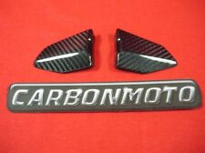 (ch) DUCATI 749 999  CARBON FIBRE PILLION HEEL GUARDS REAR HEEL PLATES NEW