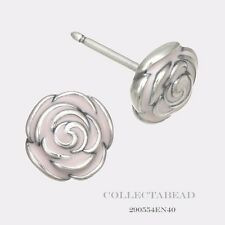 Authentic Pandora Sterling Silver Pink Rose Garden Stud Earrings 290554EN40