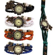 Nuevo Al Por Mayor de 5 piezas Mujeres Niñas Pulsera Mariposas Relojes Pop