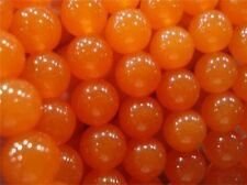 "12mm Rare Orange South America Topaz Round Gems Loose Beads 15"" AAA"