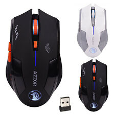 2.4GHz Wireless 6D Ricaricabile 2400DPI X3 6 Pulsanti Ottico USB Mouse Da Giochi