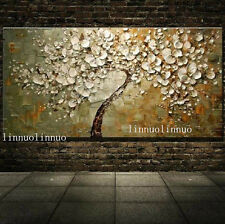 NO Frame / Hand painted Oil Canvas Wall Art Home Decor Lucky Tree 20x40