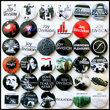 Joy Division 1978-1980  Badge Set - 36 Quality Button Badges (Factory Records)