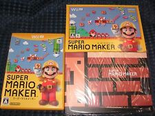 NEW Super Mario Maker Special Soft Cover Art Book + BOX W/O Wii U GAME JAPAN F/S