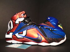 NIKE LEBRON XII 12 SE WHAT THE MULTI-COLOR PHANTOM BLUE RED BLACK WHITE NEW 11