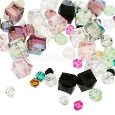 100Pcs Assorted Crystal Rhinestone Beads DIY Charms Hair Bow Craft Accessory