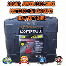 2000AMP, Jumper Leads Surge Protected 10m Long Super Heavy Duty 50mm2 for 4WD