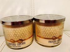 Total 2 Bath & Body Works Frosted Cupcake 3 Wick Candle