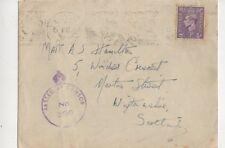 MATT Hamilton Windsor Crescent Newton Stewart 1944 WW2 COVER dall'Egitto 445b