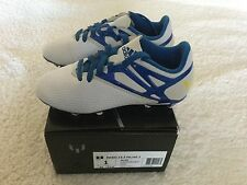 adidas JR Messi 15.3 FG Youth Soccer Cleats Football Shoes White/Blue Size 1
