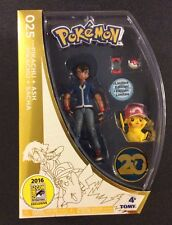 POKEMON PIKACHU & ASH Action Figures Tomy SDCC 2016 Exclusive Box Damage LTD ED