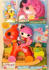 LALALOOPSY LOT OF 3 ROCKER 'N' STROLLER/CRUMBS SUGAR COOKIE WIG/GEL STICKERS NEW