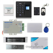 Fingerprint and RFID Card Magnetic Lock Door Access Control Kit + Remote Control