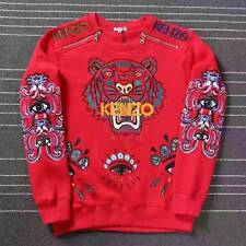 BNWT 100% AUTHENTIC KENZO 'tiger embroidered sweatshirt' Red Sweater S