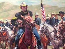 """Top"" Don Stivers Signed Limited Edition Print - U S Cavalry"