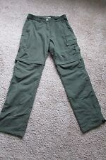 TOG 24 Trekking Olive Green Polyamide Zip off Convertible Outdoor Pants Sz S