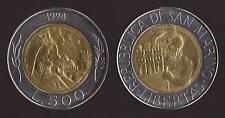 SAN MARINO 500 LIRE 1994 BIMETALLICO FDC/UNC FIOR DI CONIO