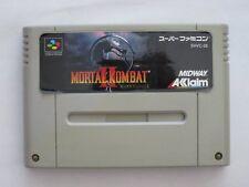 Super Famicom Mortal Kombat  II 2 Japan SFC SNES