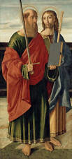 Huge oil painting male portraits Saints in The bible holding book and sword AAAA