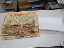 JOURNAL HEBDOMADAIRE PERIODIQUE PIERROT ANNEE 1940 LOT DE 24 NUMEROS *