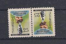 TURCHIA-TURKEY 1956 25 congresso contro l'alcolismo tete-beche 1293 Mnh