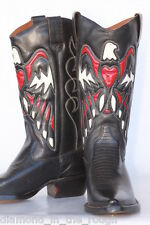 Awesome eagle cutout Nine West leather ladies cowboy boots 7 M Very little wear!