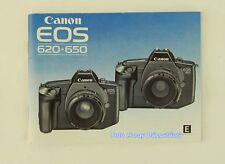 Canon EOS 620 , 650 originale Anleitung english instrutions 01492