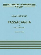 Handel/Johan Halvorsen Passacaglia In G Minor For Violin & Viola Score/Parts