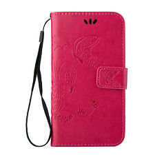 Luxury Card Holder Flip Wallet Case Cover Stand Floral For Samsung Galaxy Phones
