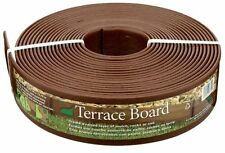 Terrace Board 3 in x 40 ft Landscape Edging Coil NEW Brown Landscaping Edge Wall