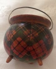 Mauchline Ware,Tartan Ware Treen Wooden Ware,Scottish Antique item nice Piece gc