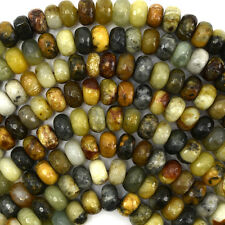 "10mm faceted multicolor jade rondelle beads 15.5"" strand"