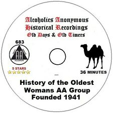 Alcoholics Anonymous AA Speaker CD - History of the Oldest Women's AA Group