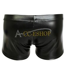 Hot Sexy Boxer Briefs Mens Boys Faux Leather Wet-Look Underwear Trunks Swimwear