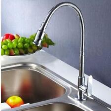 Chrome Brass Flexible Pull Down Swivel Spring Kitchen Basin Sink Faucet Tap Cold