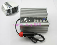 200W 12V DC to AC 220V Car Auto Vehicle Power Inverter Adapter Converter DOXIN
