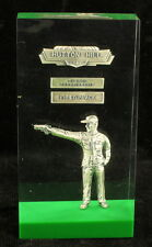 Vintage 1963 Hutton Hill NJ First Place Pistol Gun Championship Lucite Trophy
