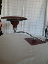 M.G. Wheeler mid century, Atomic sight light saucer, floating arm table lamp