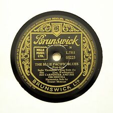 "IKE CARPENTER & HIS ORCHESTRA ""The Blue Pacific Blues"" (E+) BRUNSWICK [78 RPM]"