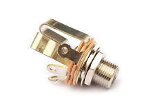 "Switchcraft Guitar Output Jack Socket • 3/8"" Long Thread • Stereo • Nickel"